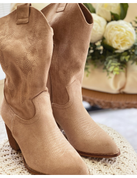 Boots style western Beige - Roxane