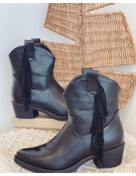 Boots style western à franges Noir - Molly