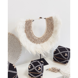 Collier Plumes & Coquillage