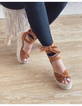 Sandales compensées - Joya Camel