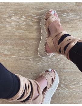 Sandales compensées - Joya Beige