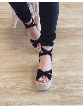 Sandales compensées - Joya Noir