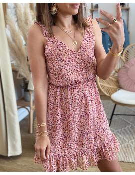 Robe fleurie Rose - Ann