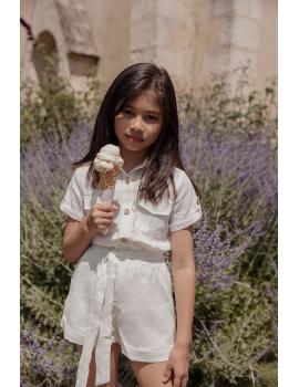 Combishort blanche - Mini Lisa