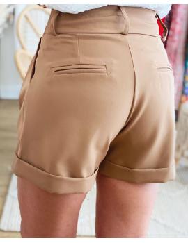 Short de tailleur camel - Owen
