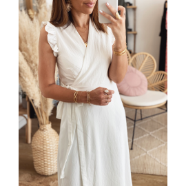Robe longue blanche - Taga (Made in France)