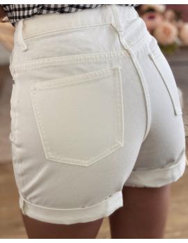 Short mom blanc - Clay
