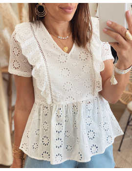 Blouse broderie anglaise - Olia