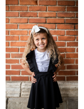 Jupe noire avec bretelles à volants - Mini Sara