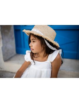 Robe en gaze de coton blanche - Mini Félice