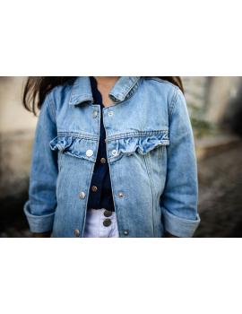 Veste en jean bleu à volants - Mini Laurel