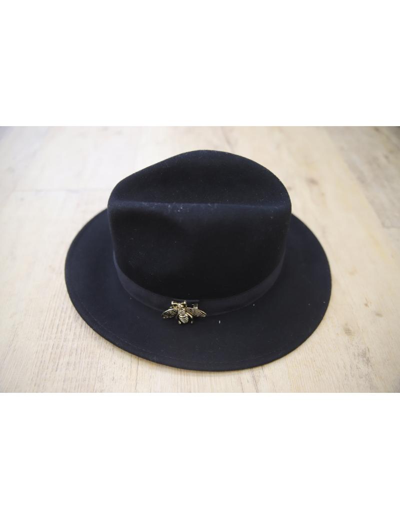 Chapeau noir liseré ruban - Pops