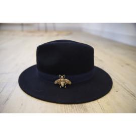 Chapeau bleu marine liseré ruban - Pops