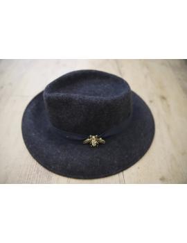 Chapeau gris liseré ruban - Pops