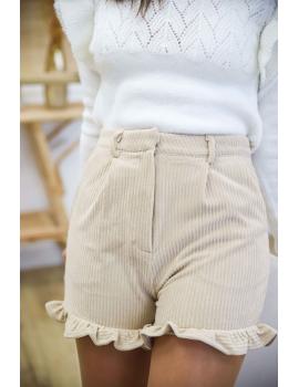 Short velours côtelé beige - Noé