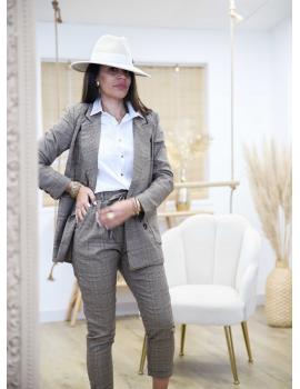 Veste blazer à carreaux - Auréa