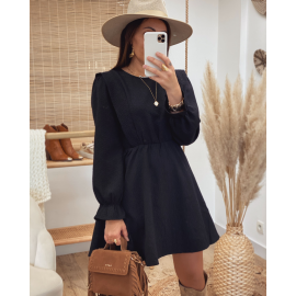 Robe texturée noire - Lucia