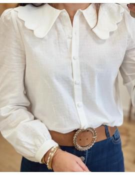 Chemise col festonné - Coralie