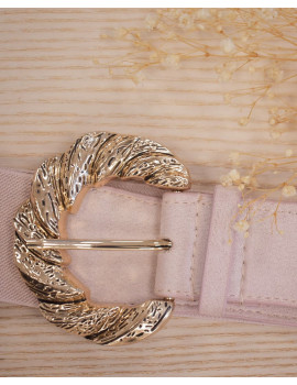 Ceinture élastique rose pastel