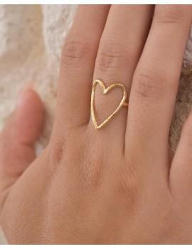 Bague Love dorée