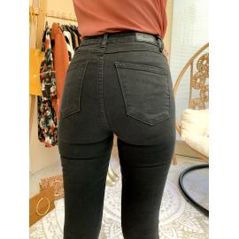 Jean slim stretch boutonnée - Noir